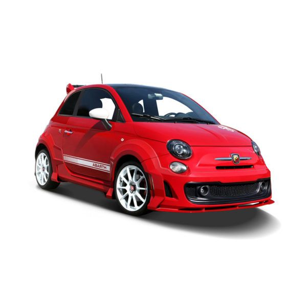 500|SPEEDLAB Fiat 500 Body Kit Abarth 7 Piece Installed Red 01