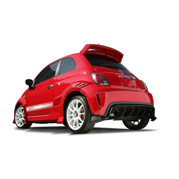 500|SPEEDLAB Fiat 500 Body Kit Abarth 7 Piece Installed Red 02