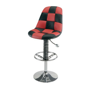 500|SPEEDLAB PitStop Furniture Pit Crew Bar Chair Black and Red Checkers HR1300R