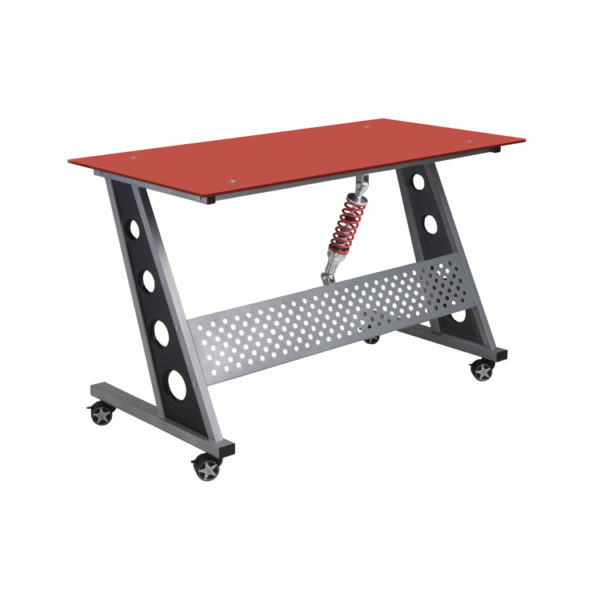 500|SPEEDLAB PitStop Furniture Compact Desk Red IND1200R
