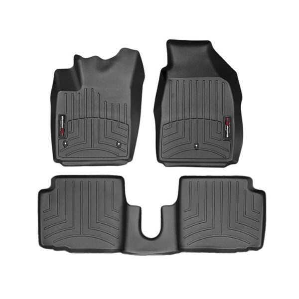 500|SPEEDLAB Weathertech Floorliners for FIAT 500 Full Set on White