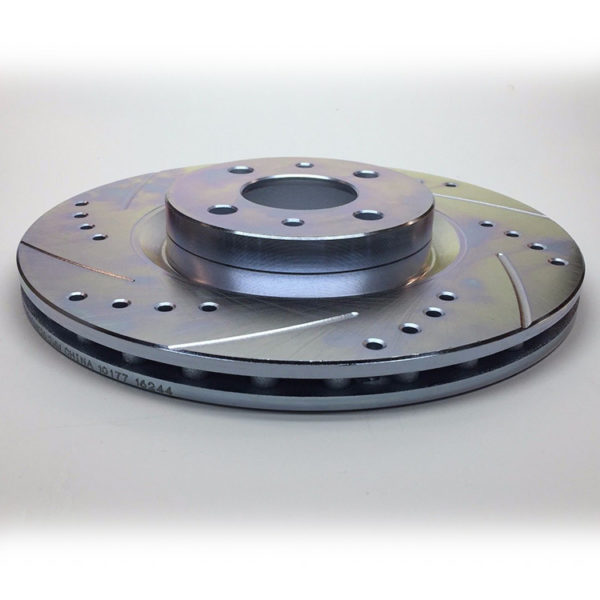 500|SPEEDLAB FIAT 500 Front Brake Rotor-Drilled and Slotted 02