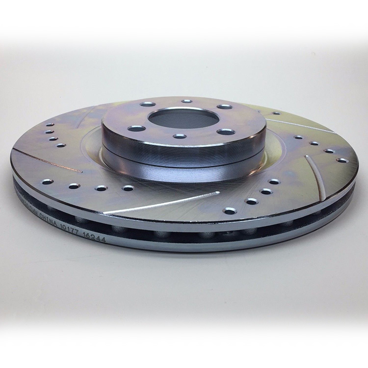 Fiat 500 Front Brake Rotors Drilled And Slotted 500